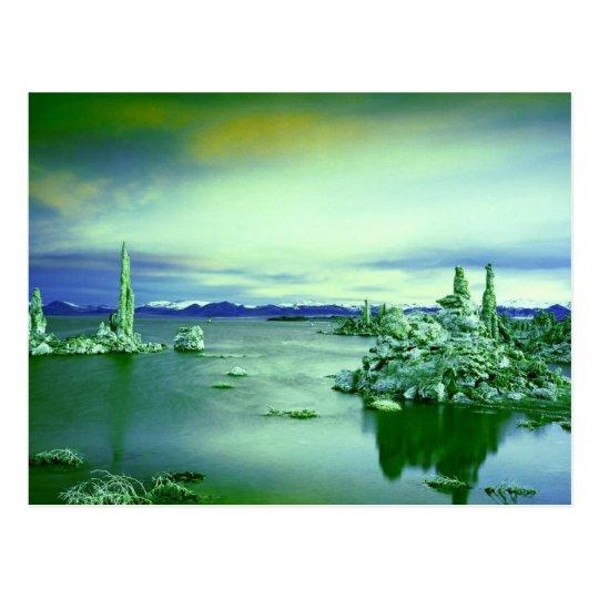 Mono Lake Colorized Postcard