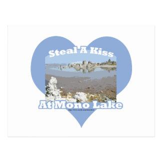 Mono Lake Kiss Saying Postcard
