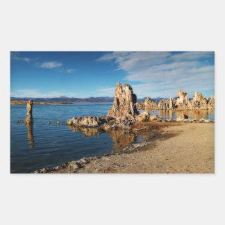 Mono Lake Scene Rectangular Sticker
