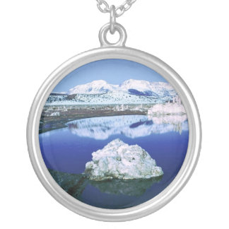 Mono Lake, Sierra Nevada Round Pendant Necklace