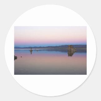 Mono Lake South at dusk Classic Round Sticker
