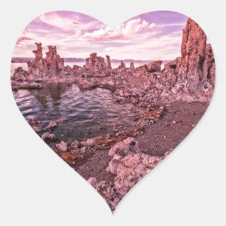 mono lake sunset heart sticker