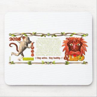 Mono Leo de la tierra del zodiaco de ValxArt lleva Alfombrilla De Ratones