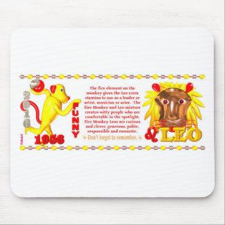 Mono Leo del fuego del zodiaco de ValxArt llevado Alfombrillas De Ratón
