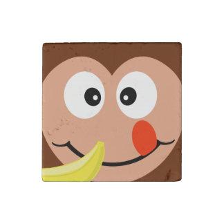 Mono lindo con el imán del plátano imán de piedra