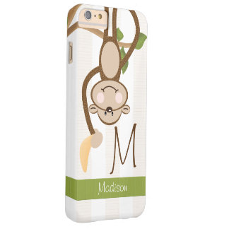 Mono lindo con monograma funda para iPhone 6 plus barely there