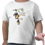 Mono lindo de hermano mayor con el SIS del bebé de Camisetas