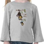 Mono lindo de la hermana grande con el bebé Brothe Camisetas