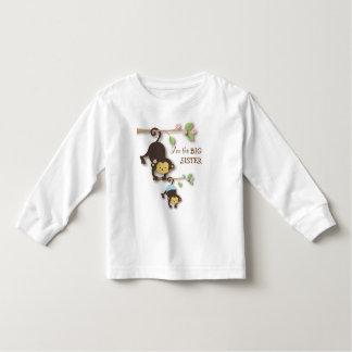 Mono lindo de la hermana grande con el bebé t shirts