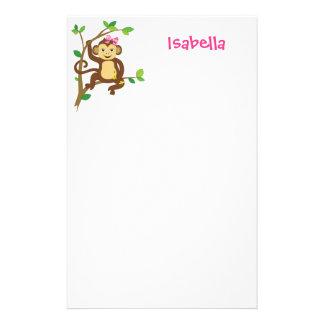 Mono lindo de la niña papelería