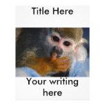 Mono lindo del bebé membrete a diseño
