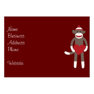 Mono lindo del calcetín con el gorra que lleva a plantilla de tarjeta de negocio