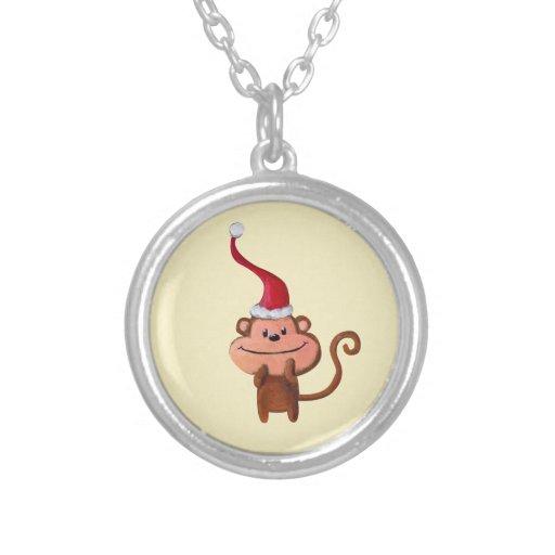 Mono lindo del navidad grimpolas personalizadas