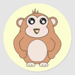Mono lindo etiquetas redondas