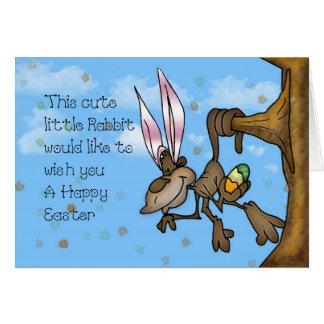 Mono lindo feliz de Pascua pequeño Tarjeta De Felicitación