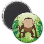 Mono lindo imanes para frigoríficos