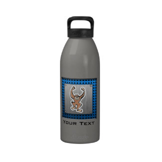 Mono lindo; Metal-mirada cepillada Botellas De Agua Reutilizables