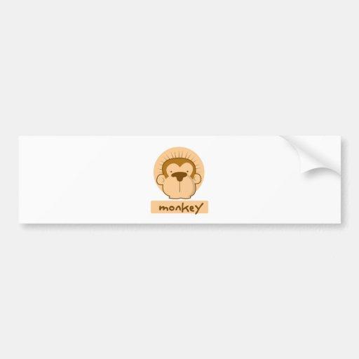 mono lindo pegatina para auto