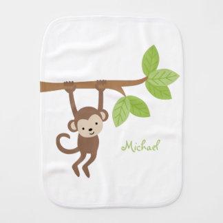 Mono lindo personalizado paños de bebé