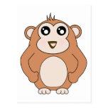 Mono lindo postal