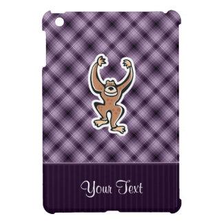 Mono lindo púrpura iPad mini cobertura