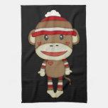 Mono lindo retro del calcetín toallas de mano