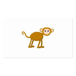 Mono lindo tarjetas de visita