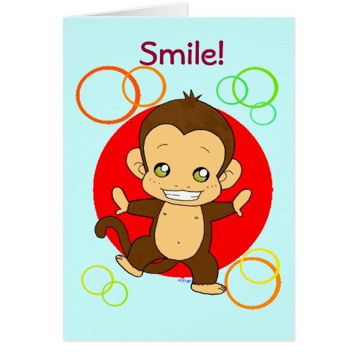 Mono lindo tarjeta de felicitación