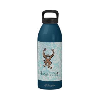 Mono lindo; trullo botella de agua reutilizable