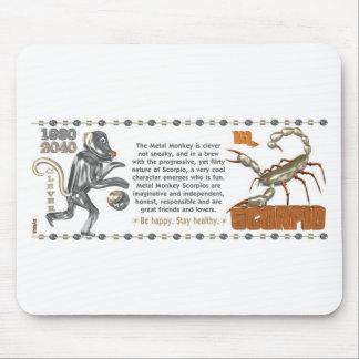 Mono los an o 80 del metal del escorpión del zodia tapete de ratón