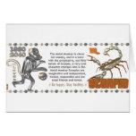 Mono los an o 80 del metal del escorpión del zodia tarjetas