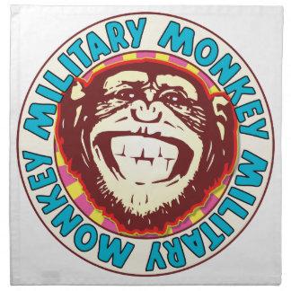 Mono militar servilletas de papel