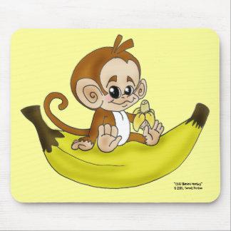 """""""MONO"""" Mousepad del plátano de CHIBI Alfombrillas De Raton"""