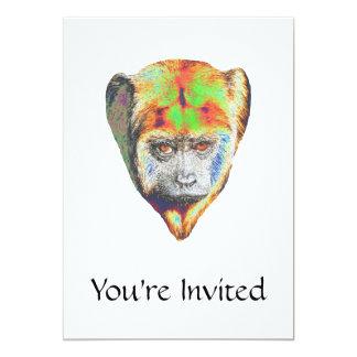 """Mono multicolor invitación 5"""" x 7"""""""