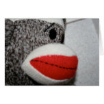 Mono Notecard del calcetín Tarjetas