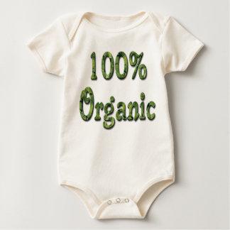 Mono orgánico de la camiseta del bebé, el 100% enterito