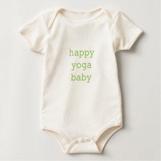 Mono orgánico del bebé feliz de la yoga mameluco