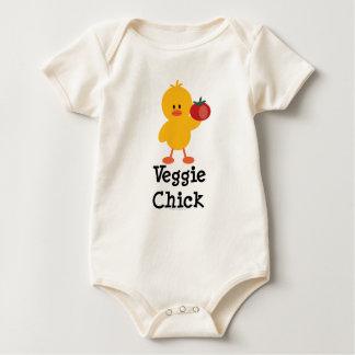 Mono orgánico infantil del polluelo del Veggie Mamelucos De Bebé