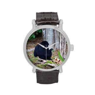 mono oscuro en imagen de la parte posterior de la  relojes de pulsera