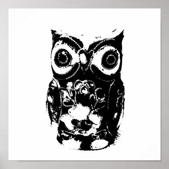 Mono Owl Poster