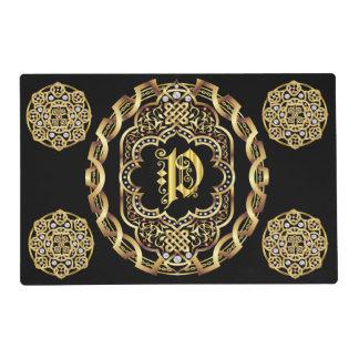 Mono P 2 different designs Front Back Read About D Placemat