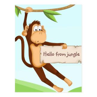 Mono para los niños tarjetas postales