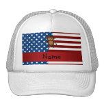 Mono patriótico conocido personalizado gorras de camionero