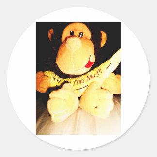 Mono Etiqueta Redonda