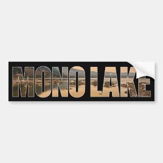 Mono pegatina para el parachoques del lago pegatina para auto
