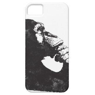 Mono pensativo iPhone 5 carcasa