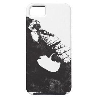 Mono pensativo iPhone 5 protector