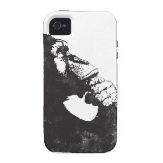 Mono pensativo Case-Mate iPhone 4 fundas