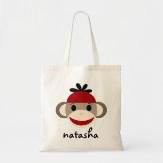 Mono personalizado Bookbag del calcetín Bolsa