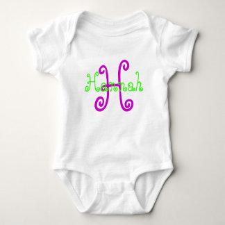 """Mono personalizado de """"Hannah"""" Body Para Bebé"""